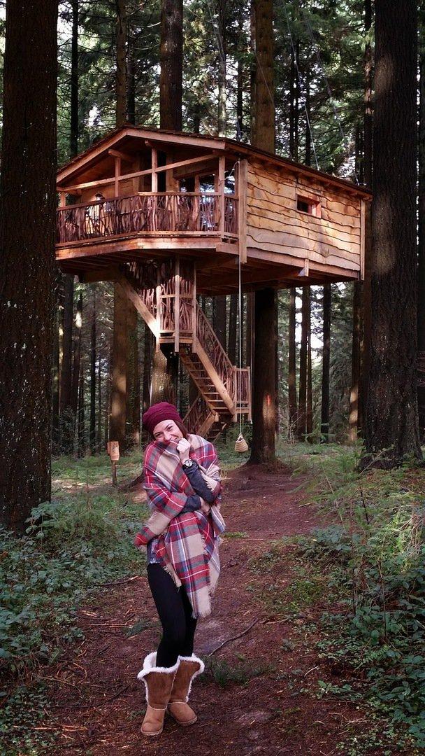 La cabaña en el árbol más alta de Europa. Alojamientos Bizkaia Bilbao
