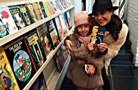 Cómics Café en Bruselas. Visita imprescindible si viajas con tus hijos. Bruselas