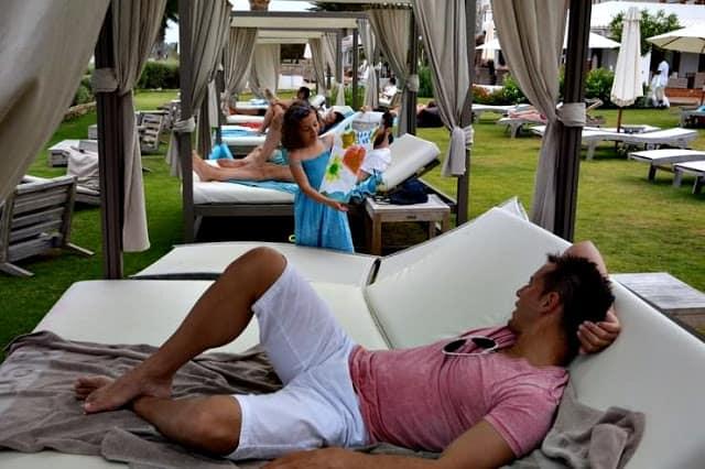 Camas balinesas en Gecko Hotels en Formentera