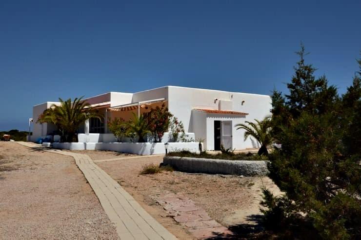 Casitas del hotel Lago Playa en Formentera