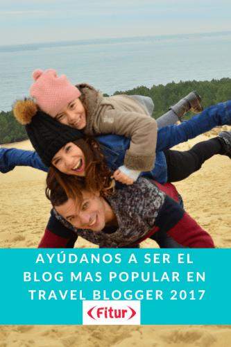 Viajando con mami opta al premio como Blog mas Popular. FITUR