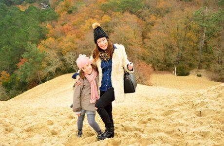 ¡Viajar con niños a la Duna du Pilat en invierno es muy divertido! Burdeos