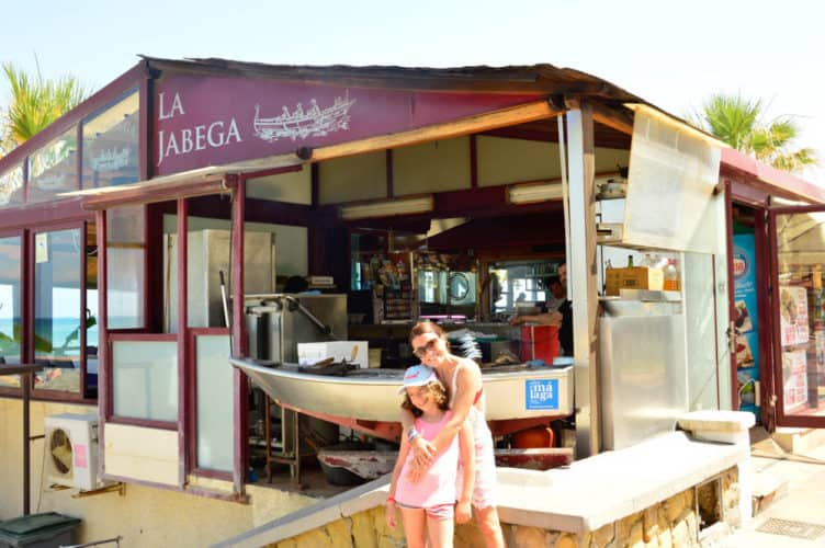 Restaurante la Jabega en la playa de Torremolinos, Málaga