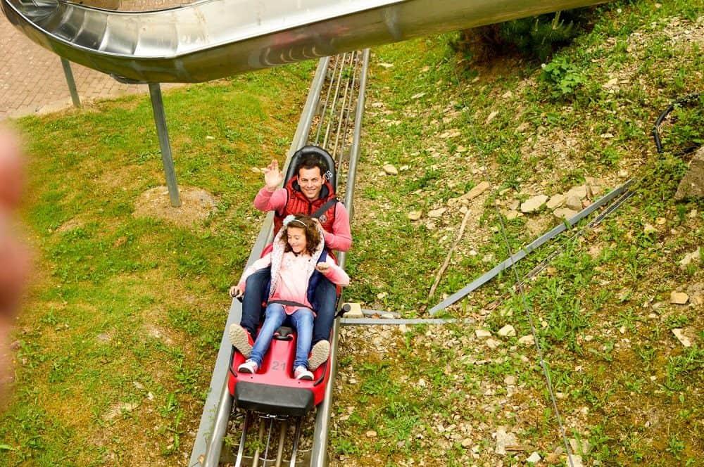 Tobogán Alpino de camino a Hamelin. Alemania con niños Alemania