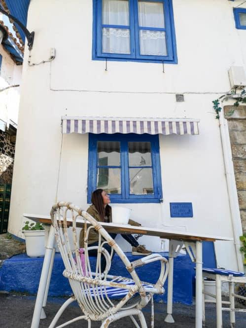 Casita en el pueblo de Tazones en Asturias