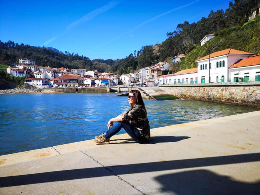 panorámica de Tazones en Asturias