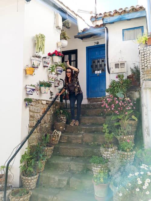 Casitas en el pueblo de Tazones en Asturias