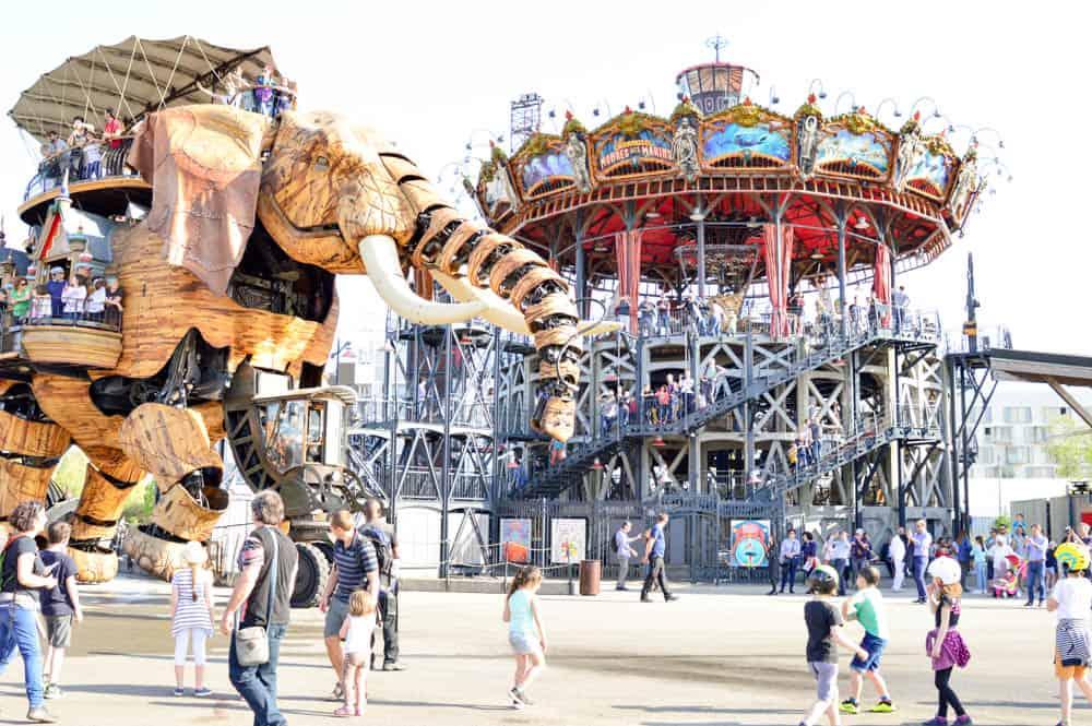 Isla de las Máquinas en Nantes. Francia con niños Europa