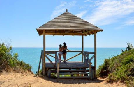 Miradores hacia la playa de Sancti Petri en Cádiz
