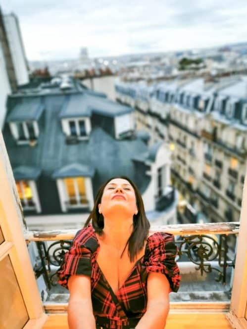 Vistas desde habitación Sacre Coueur de París