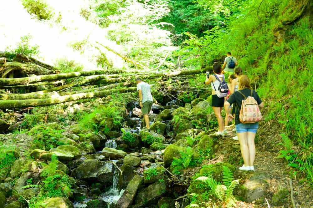 Cascada de Belaustegi en Gorbea cerca de Orozko Bizkaia