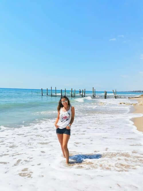 Playa del Camping Playa Montroig en Tarragona