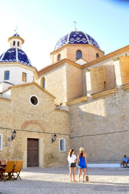 Iglesia de Nuestra Señora del Consuelo y Castillo de Altea en Alicante