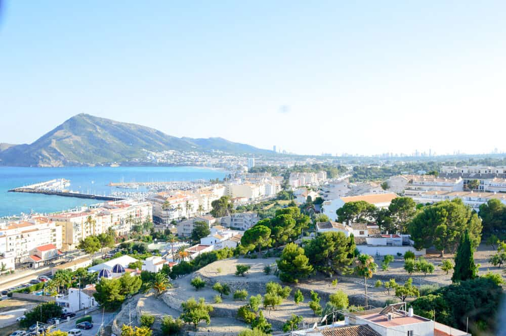 Mirador desde la colina de Altea en Alicante