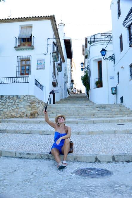 Calles del Casco Histórico de Altea en Alicante