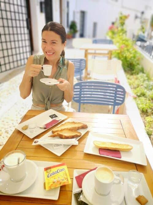 Desayunando en Altea, Alicante