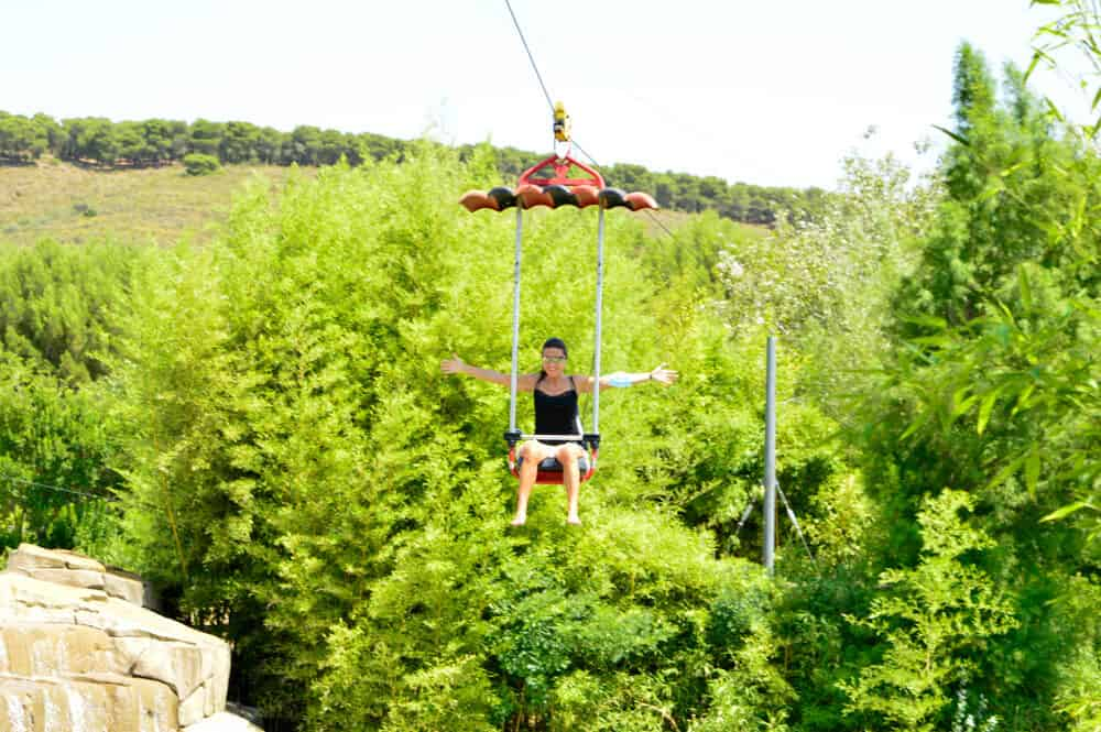 Tirolina Parque Senda Viva en Navarra