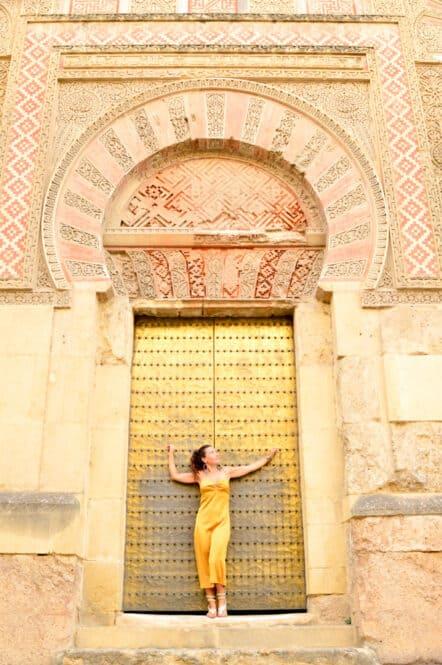 Puerta de la Mezquita de Córdoba en Andalucía