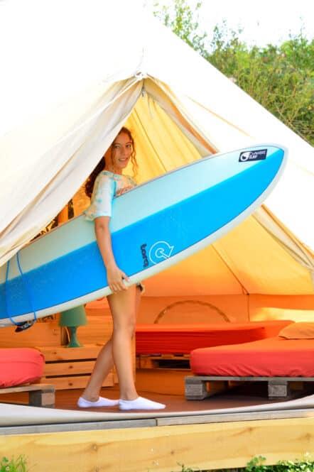 Tipi en Oyambre Surf Camp en Cantabria