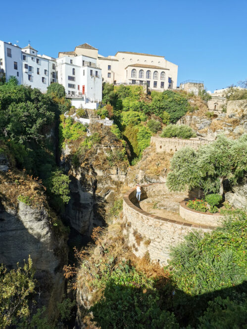 Vistas hacia Ronda en Málaga, Andalucía