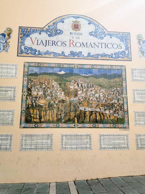 Cartel de Ronda en Málaga en Andalucía