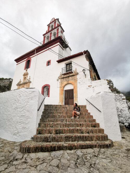Iglesia de Grazalema en Cádiz, Andalucía