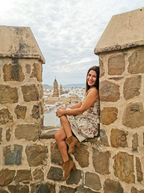 Vistas desde la Alcazaba de Antequera en Málaga, Andalucía