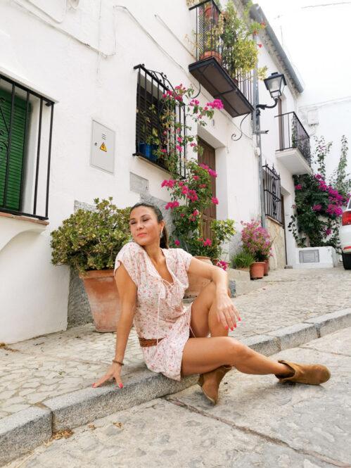 Calle de Zahara de la Sierra en Cádiz, Andalucía