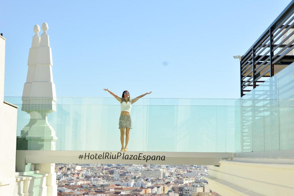 Pasarela de Cristal de Terraza 360 del Hotel Riu Plaza Madrid