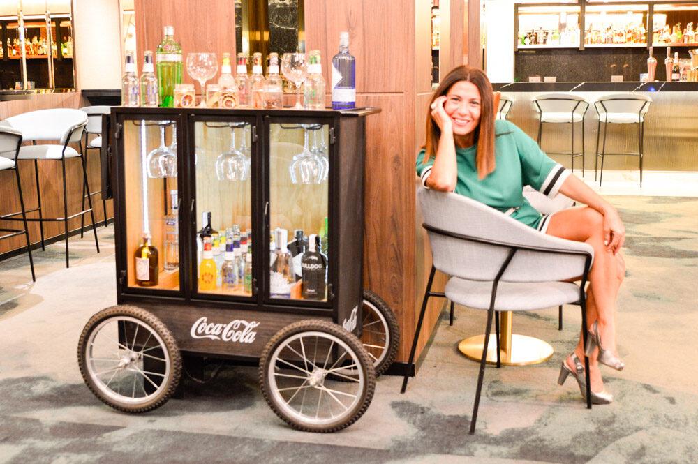 Lobby Bar del Hotel Riu Plaza España en Madrid