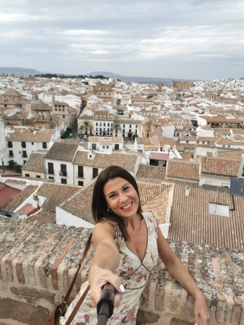 Antequera desde la Alcazaba en Málaga, Andalucía